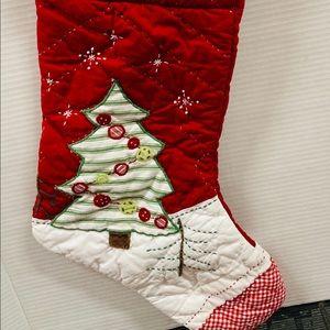 Quited handmade Christmas tree stocking